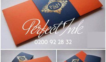 Elegant styled invitation cards