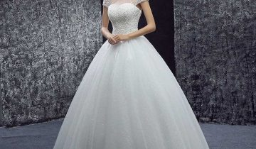 Beautiful high neck ball gown