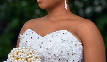 Beautiful bridal makeup in Ghana